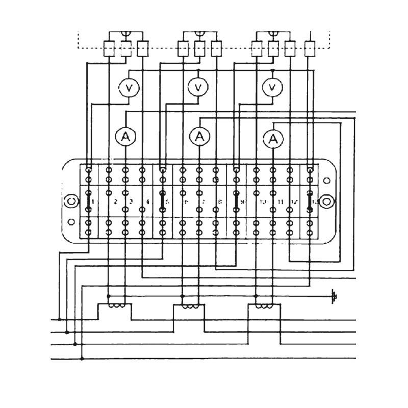 В режиме измерения напряжения и силы тока